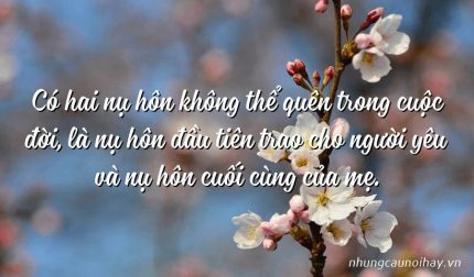 Có hai nụ hôn không thể quên trong cuộc đời, là nụ hôn đầu tiên trao cho người yêu và nụ hôn cuối cùng của mẹ.
