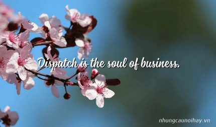 Dispatch is the soul of business.