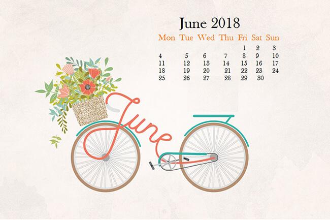Hình nền chào tháng 6